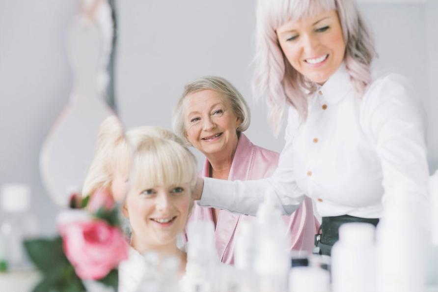 bridal hair experts in bridgend