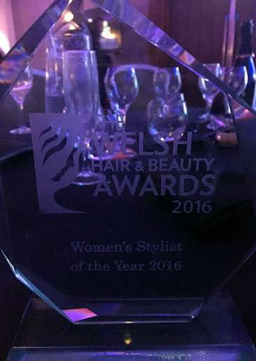 Shelley! 'Stylist of the Year' at Welsh Hair & Beauty Awards 2016
